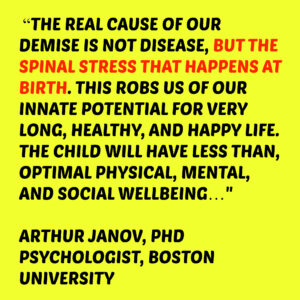 spinal stress at birth