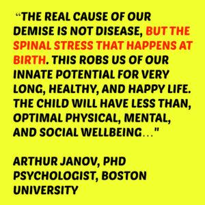 spinal stress at birth